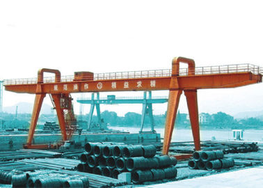 Cina MG100t - 38m - 20m Box Girder Yard A-Shape Crane Gantry For machinery factory pemasok