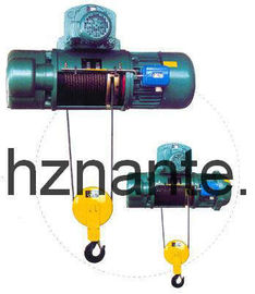 Cina 5 Ton Tali Kawat Listrik Underhang Hoist CD / MD Lifting Equipment Lulus pabrik